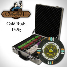 Gold Rush 500pc Poker Chip Set w/Claysmith Alluminum Case