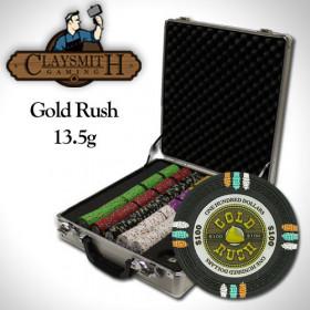 Gold Rush 500pc Poker Chip Set w/Claysmith Alluminum Case