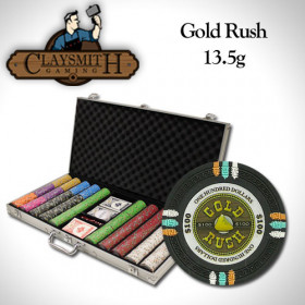 Gold Rush 750pc Poker Chip Set w/Aluminum Case