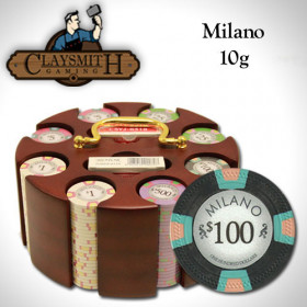 Claysmith Gaming Milano 200pc Poker Chip Set w/Wooden Carousel