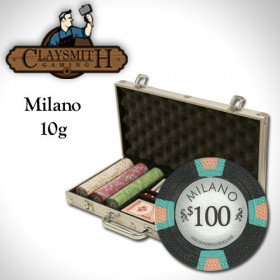 Claysmith Gaming Milano 300pc Poker Chip Set w/Aluminum Case
