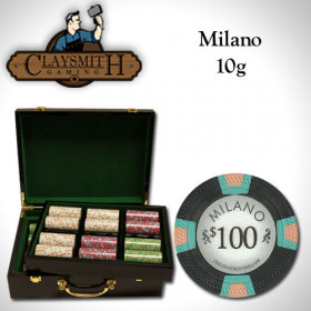 Claysmith Gaming Milano 500pc Poker Chip Set w/Hi Gloss Case
