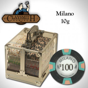 Claysmith Gaming Milano 600pc Poker Chip Set w/Acrylic Case