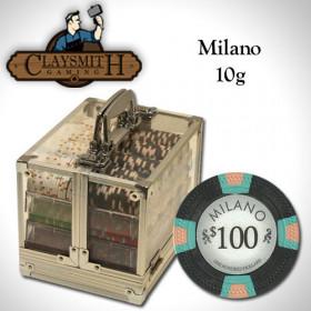 Claysmith Gaming Milano 600pc Poker Chip Set w/Acrylic Case