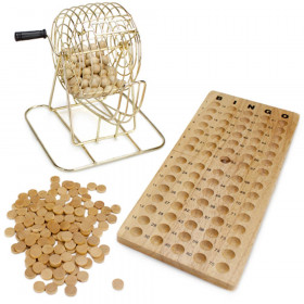 Wooden Bingo Game Set