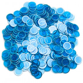300 Pack Blue Magnetic Bingo Marker Chips