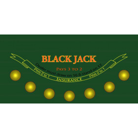 Blackjack Sublimation Casino Table Felt