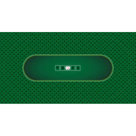 Green Sublimation Hold'Em Poker Table Felt
