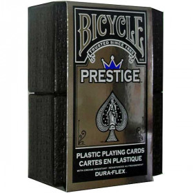 Bicycle Prestige 100% Plastic Playing Cards - Blue