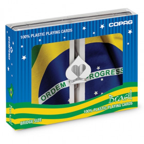 COPAG Baralho Bridge Size Plastic Playing Cards, Jumbo Index