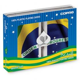 COPAG Baralho Bridge Size Plastic Playing Cards, Jumbo Index