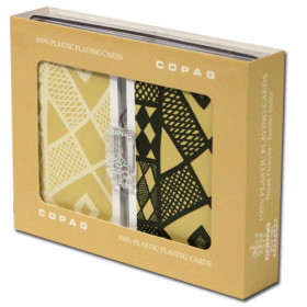 COPAG Ethnic Playing Cards, Black/Tan, Bridge Size, Jumbo Index
