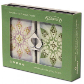 COPAG Indian Playing Cards,Green/Brown, Bridge Size, Jumbo Index