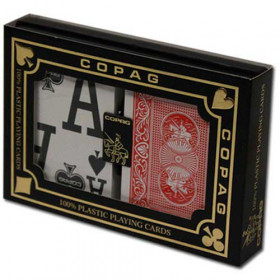 COPAG Magnum Index Plastic Playing Cards, Red/Blue, Poker Size, Magnum Index