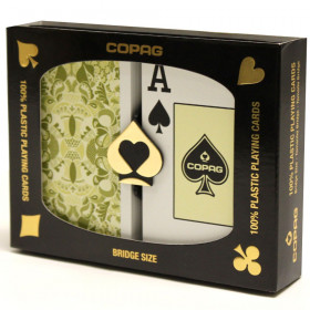 COPAG Misto Saraswati Playing Cards, Green/Orange, Bridge Size, Jumbo Index
