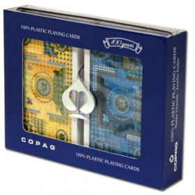 COPAG Mandala Playing Cards, Blue/Yellow, Bridge Size, Jumbo Index