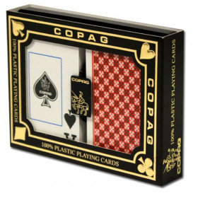 COPAG Master Series Plastic Playing Cards, Red/Black, Bridge Size, Jumbo Index