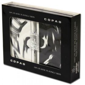 COPAG Peace Playing Cards, Black/White, Bridge Size, Jumbo Index