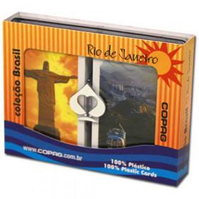COPAG Rio de Janeiro Plastic Playing Cards, Bridge Size, Jumbo Index