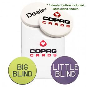 COPAG Dealer Kit, Poker Size, White