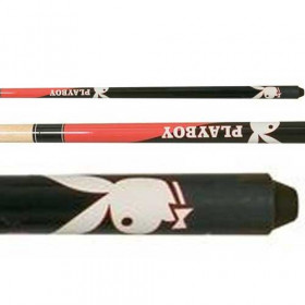 Minnesota Fats Playboy Black & Red Licensed Pool Cue