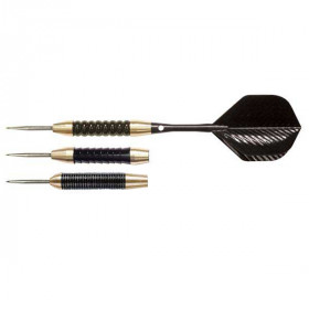 NODOR Black & Brass Steel-Tip Dart Set - STA450
