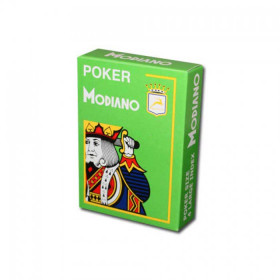 Modiano Cristallo Plastic Playing Cards, Light Green, Poker Size 4PIP Jumbo Index