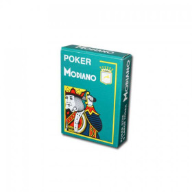 Modiano Cristallo Plastic Playing Cards, Green, Poker Size 4PIP Jumbo Index