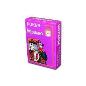 Modiano Cristallo Plastic Playing Cards, Purple, Poker Size 4PIP Jumbo Index