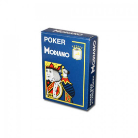 Modiano Cristallo Plastic Playing Cards, Blue, Poker Size 4PIP Jumbo Index
