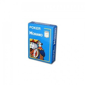 Modiano Cristallo Plastic Playing Cards, Light Blue, Poker Size 4PIP Jumbo Index