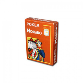 Modiano Cristallo Plastic Playing Cards, Brown, Poker Size 4PIP Jumbo Index