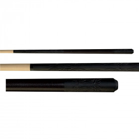 Players D-LTR Tribal Flames Black Stealth Pool Cue Stick