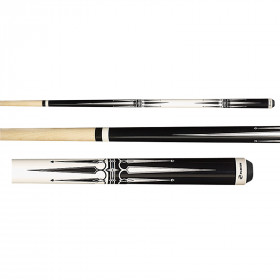 Players G-2285 Black and White Pool Cue Stick