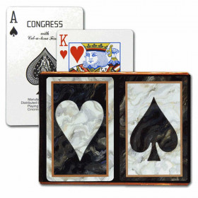 Congress Black Heart & Spade Bridge Playing Cards - Standard Index