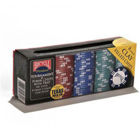 Bicycle Premium 8-Gram Clay Poker Chips with Tray