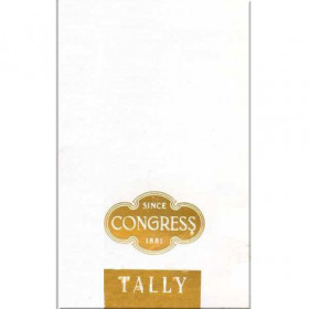 Congress White and Gold Tally Cards