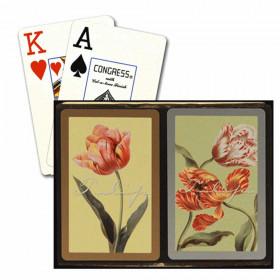 Congress Tulips Bridge Playing Cards - Jumbo Index