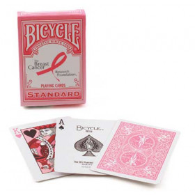 Bicycle Pink Ribbon Breast Cancer Playing Cards