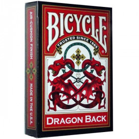 Bicycle Red Dragon Back Standard Index Playing Cards