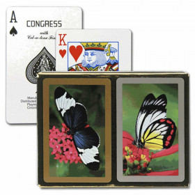 Congress Butterflies Bridge Playing Cards - Standard Index