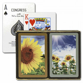 Congress Sunflowers Bridge Playing Cards - Standard Index
