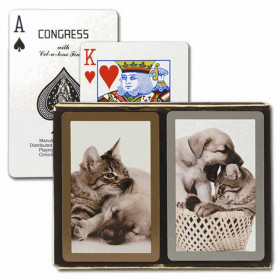 Congress Cat & Dog Bridge Playing Cards - Standard Index