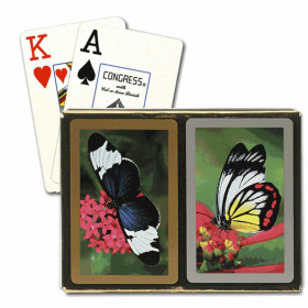 Congress Butterflies Bridge Playing Cards - Jumbo Index