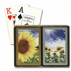 Congress Sunflowers Bridge Playing Cards - Jumbo Index