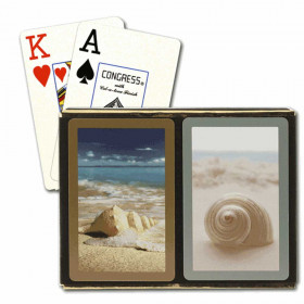 Congress Seashells Bridge Playing Cards - Jumbo Index