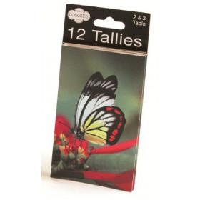 Congress Butterflies Tally Cards