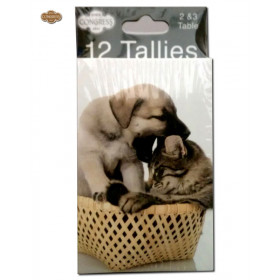 Congress Cat and Dog Bridge Tally Cards