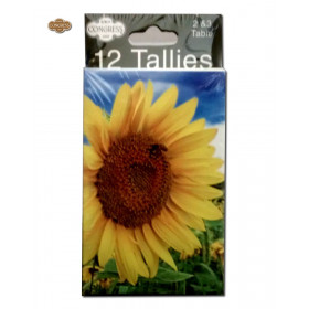 Congress Sunflowers Bridge Tally Cards