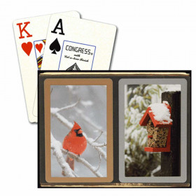 Congress Red Cardinal Bridge Playing Cards - Jumbo Index